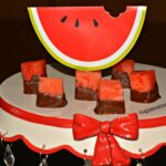 Chocolate Dipped Watermelon Bites