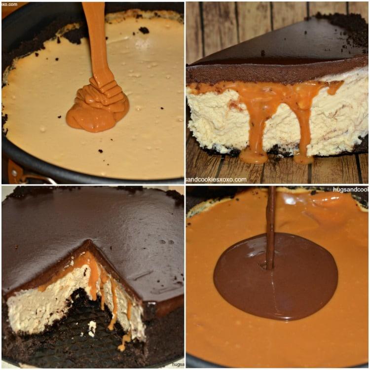 Chocolate Cheesecake With Caramel Ganache Recipe — Dishmaps