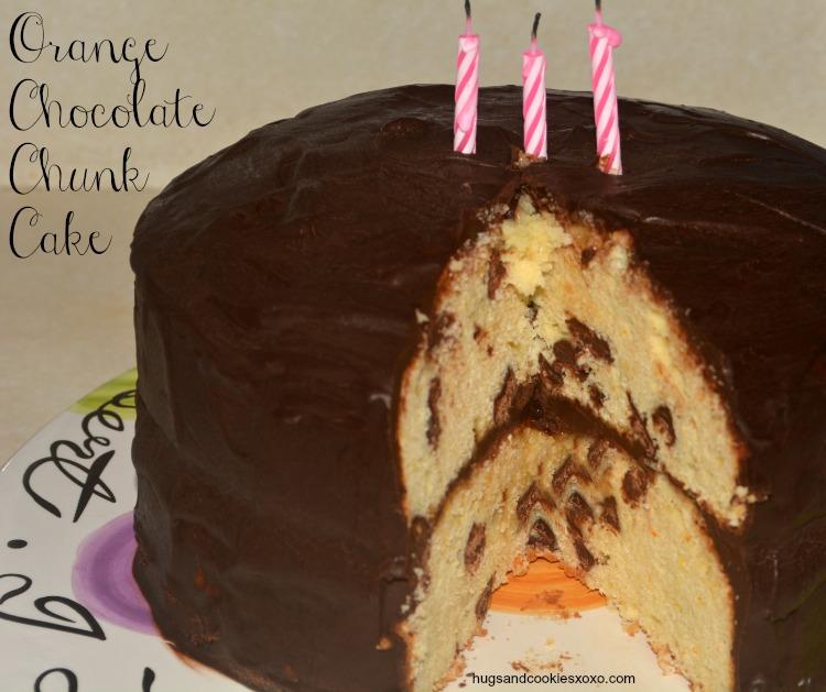 Orange Chocolate Chunk Layer Cake Hugs And Cookies Xoxo