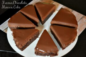 Frozen Chocolate Mousse Layer Cake