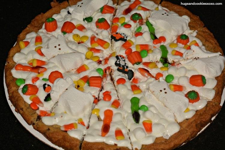 cookie pizza halloween