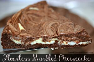 Flourless Marbled Cheesecake