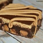 Chocolate Peanut Butter Stuffed Brownies