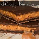 Caramel Crispy Brownies