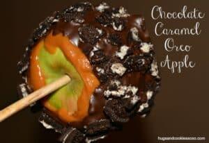 Chocolate Caramel Oreo Apples