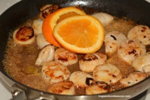 Caramel Orange Scallops