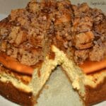 Snickerdoodle Heath Bar Caramel Cheesecake