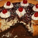 Hot Fudge Brownie Sundae Cheesecake