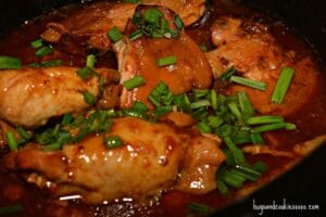Peach Bourbon Crockpot Chicken