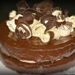Ganache Cake With Chocolate Cream Cheese Frosting