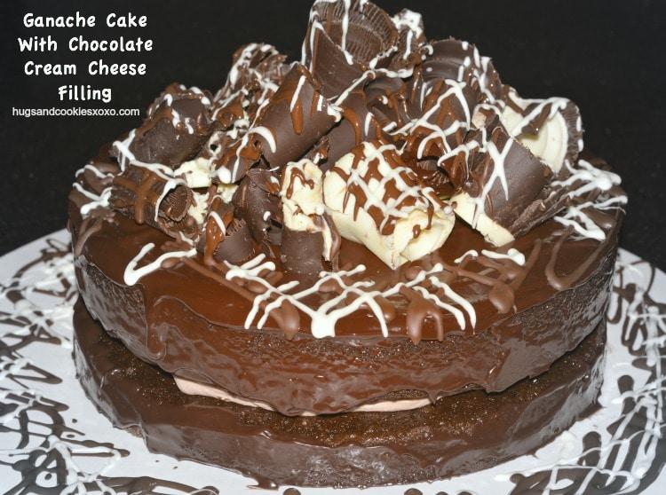 ganache cake curls