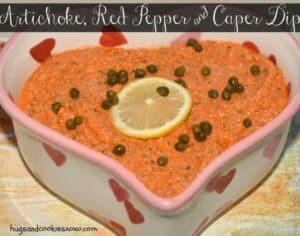 Artichoke, Red Pepper & Caper Dip