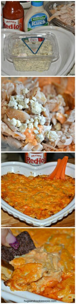 buffalo chip dip collage vertical