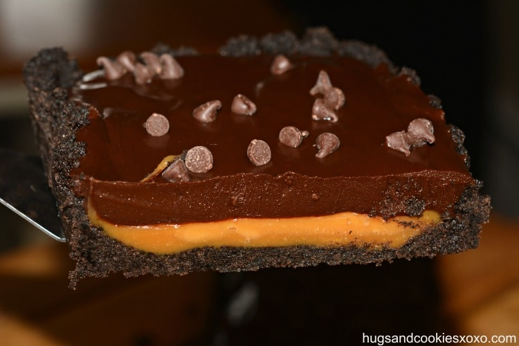 oreo caramel chooclate tart