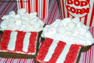 Popcorn Themed Sugar Cookies