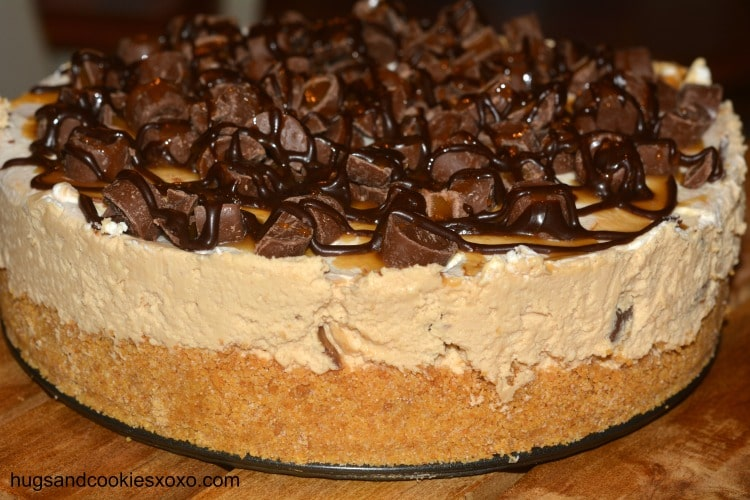rolo cheesecake side view