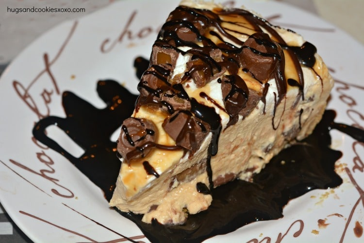 No Bake Hot Fudge Rolo Cheesecake