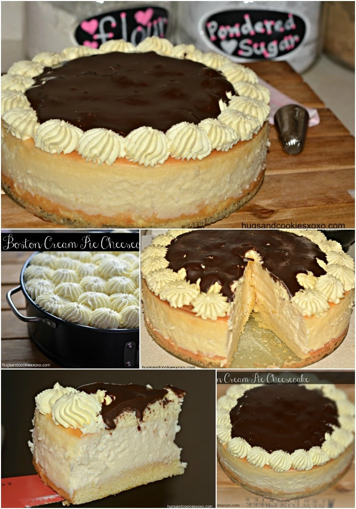 Boston Cream Pie Filled Cheesecake