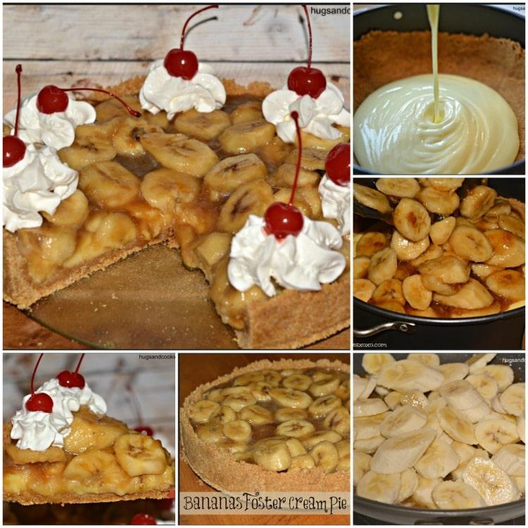 bananas foster cream pies