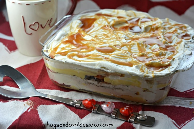 lasagna  caramel whipped cream