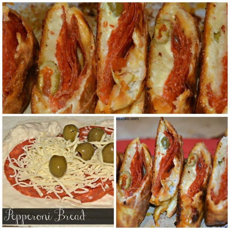 pepperoni and cheese bread