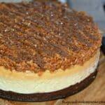 Samoa Cookie Brownie Cheesecake