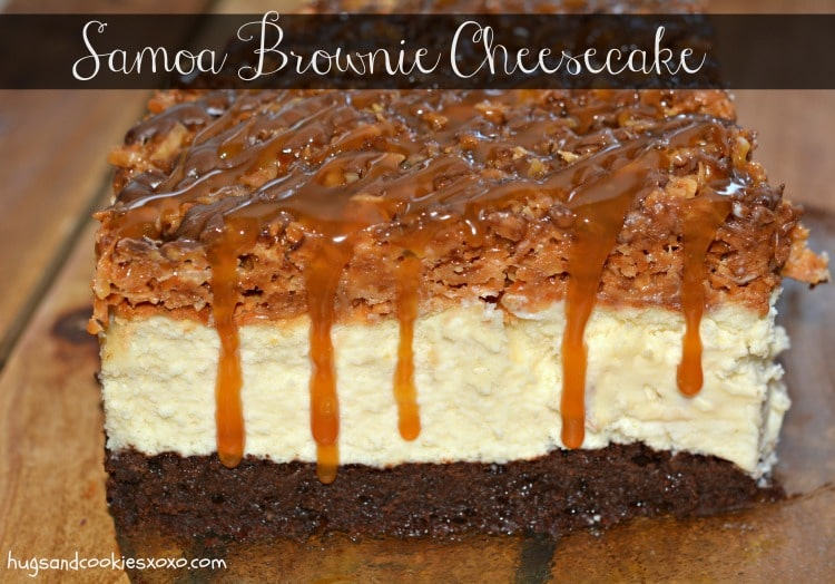 samoa brownie cheesecake caramel