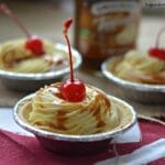 Vanilla Caramel Whipped Cream Mini Pies