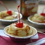 Vanilla Caramel Whipped Cream Mini Pies