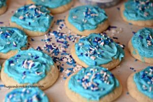 Secret Ingredient Soft Baked Frosted Sugar Cookies