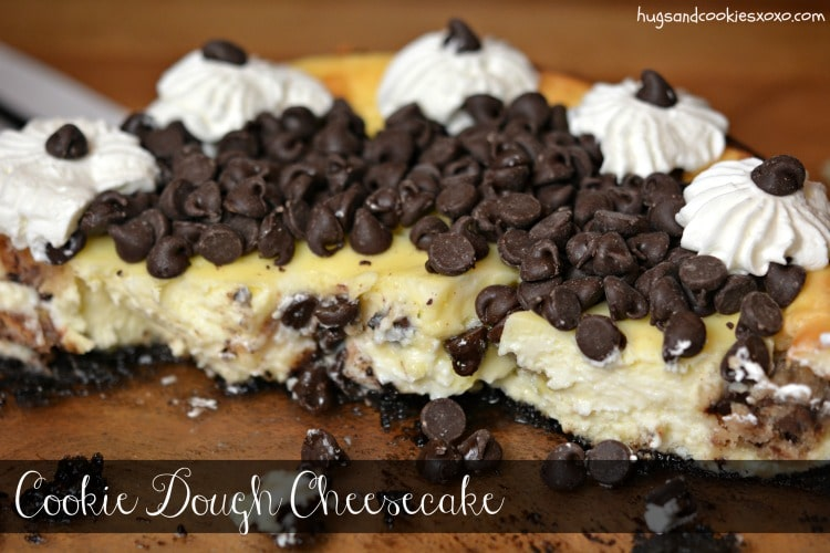 cookie dough cheesecake chocolate chip