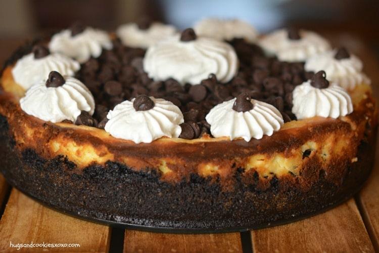 cookie dough cheesecake whippe cream
