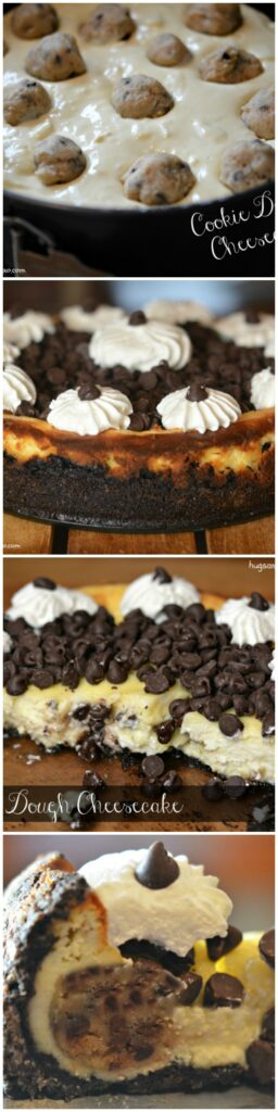 cookie dough cheesecakes