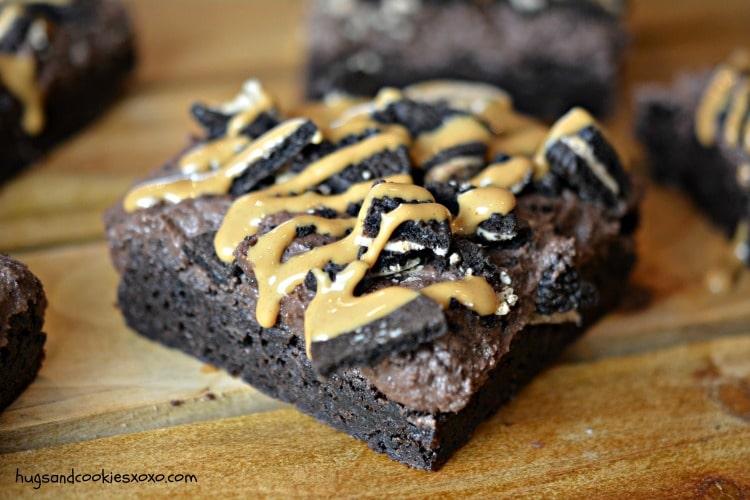 pb oreo brownies