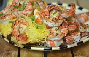 Spaghetti Squash & Grilled Shrimp