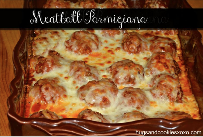 Baked Meatball Parmesan Casserole Hugs And Cookies Xoxo