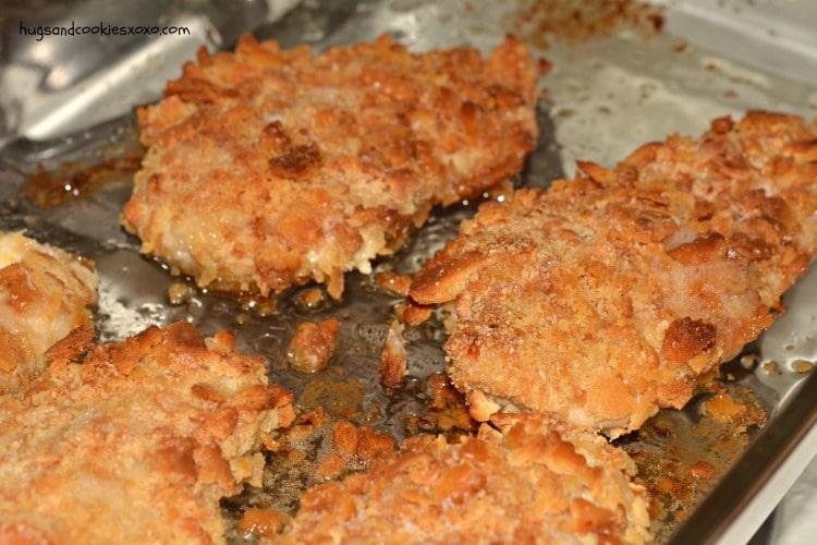 buttery cracker chicken cutlets