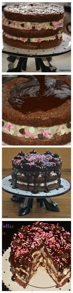 cake batter brownie layer cake galore