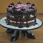 Cake Batter Brownie Layer Cake