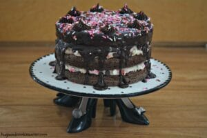 Cake Batter Brownie Layer Cake