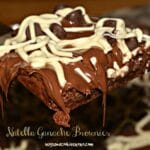 Nutella Ganache Chocolate Brownies