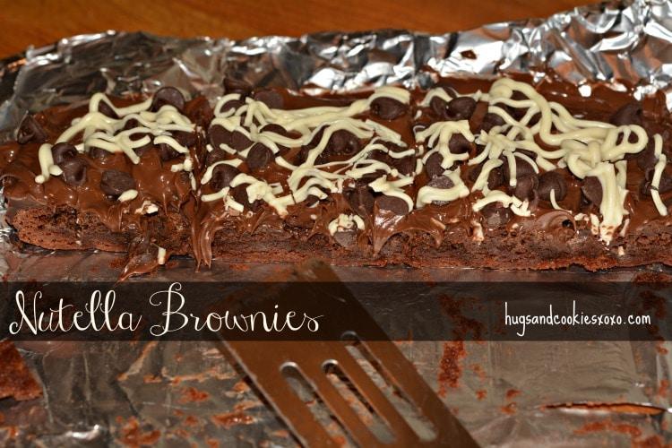 nutella brownies pan