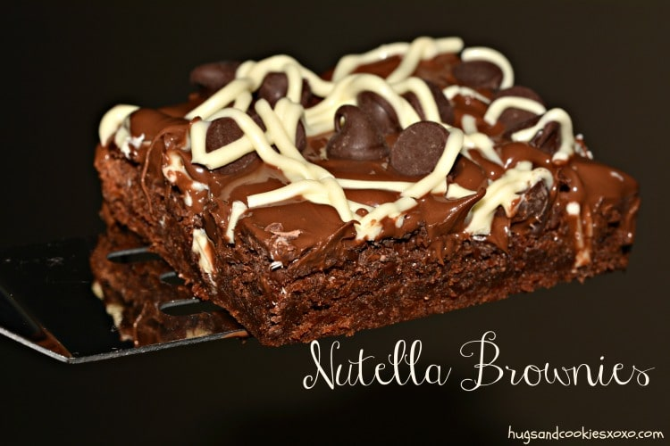 nutella brownies squares