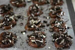 Chocolate Dipped Oreo Pretzels
