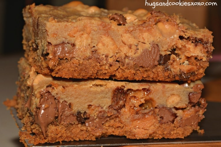 peanut butter candy cookie bars