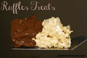 Chocolate Dipped Ruffles Potato Chip & Marshmallow Treats