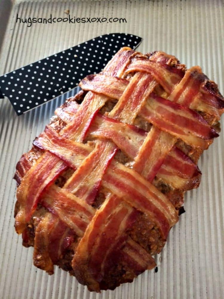 baked bacon meatloaf