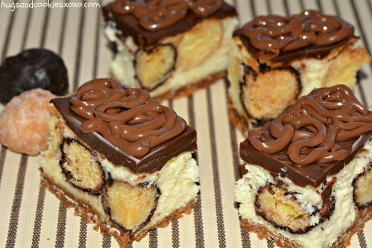 cheesecake bars with doughnuts