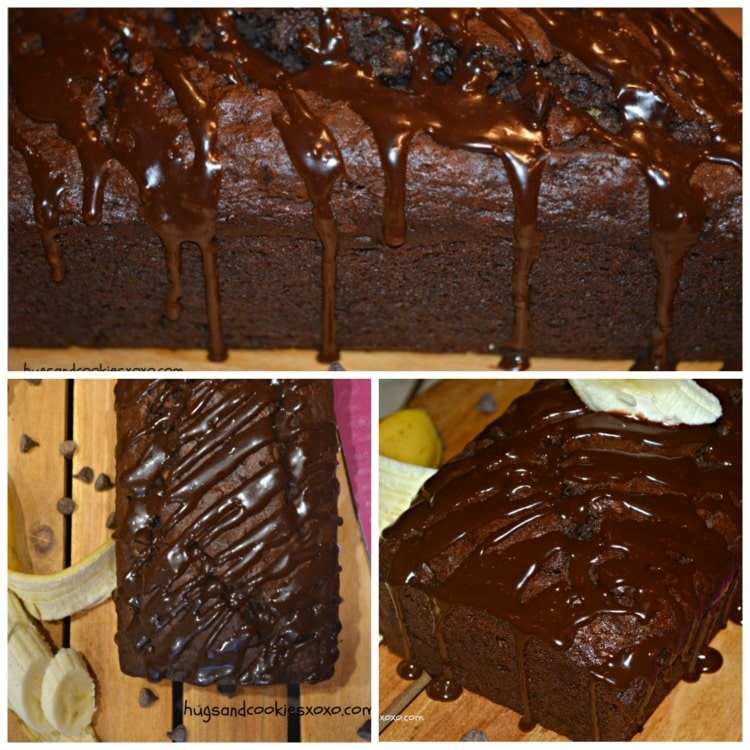 chocolate banana ganache bread
