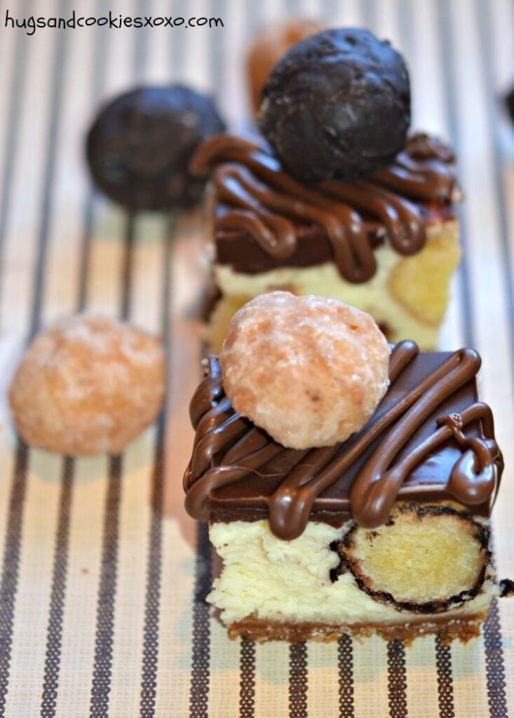 doughnut cheesecake bars chocolate